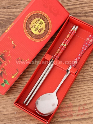 Oriental Chopstick Spoon Set