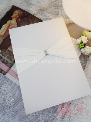 Ivory Glitz Wedding Guest Book