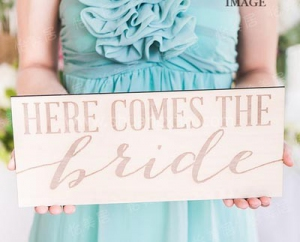 Here Comes The Bride (Rectangular)  (Rental Fees: S$20)