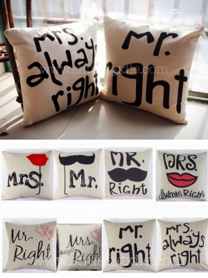 Mr Right Mrs Always Right Cushion Set
