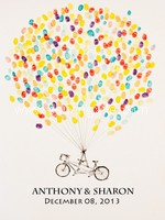 Tandem Bike Thumbprint Guestbook