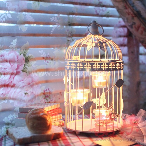 Butterfly Love Bird Cage Candle Holder M - Wedding Decorations ...