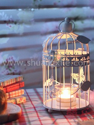 Butterfly Love Bird Cage Candle Holder S