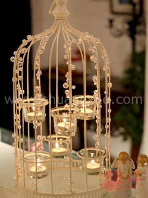 Enlighten My Life - Bird Cage Candle Holder
