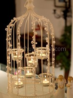 Enlighten My Life - Bird Cage Candle Holder (Rental fees: $35)