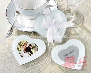 Capture My Heart Photo Glass Coaster (2pcs)