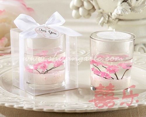 Cherry Blossom Gel Candle Favor Wedding Favors Gt Candle