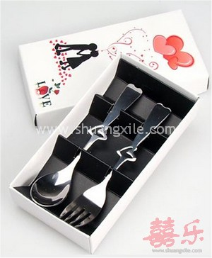 """Love"" Couple Fork & Spoon Set~New!"
