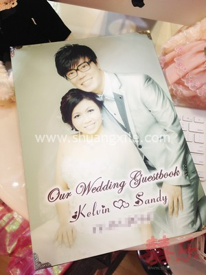 Full Page Wedding Photo Customised Guestbook~Limited time offer!