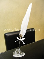 Vintage Swan Feather Signature Pen