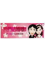 DILA Wedding Car Sticker - Pink~New!