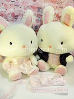 Sweet Purple Pink Wedding Bunnies (Large)~Back in Stock!
