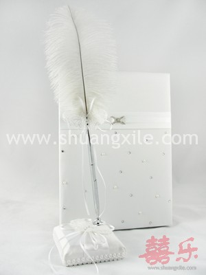 Guestbook Feather Pen Holder Set – Butterfly
