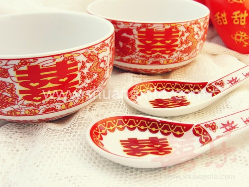 Dragon Phoenix Bowl Set
