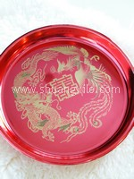 Exquisite Dragon Phoenix Wedding Tray ~New!