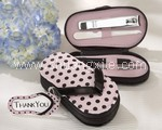 Flip Flop Pink Polka Dot Pedicure Set