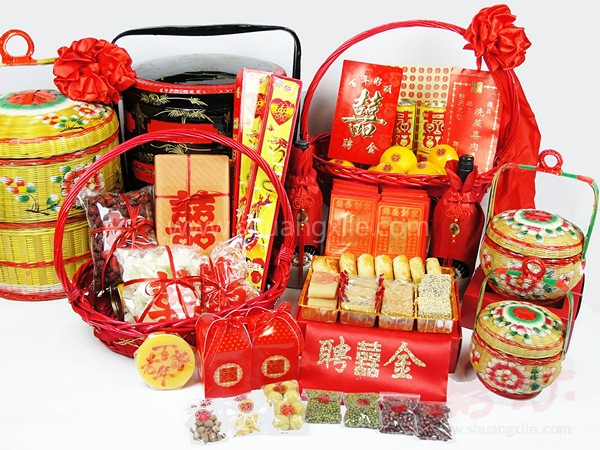 Wedding Gift Baskets Singapore : Chinese Wedding Customs > Guo Da Li (The Betrothal)