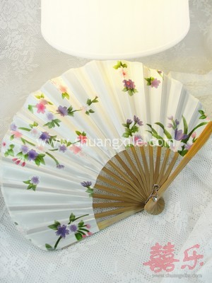 Japanese Silk Fan (White)