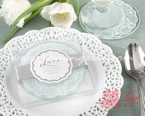 Classic Lace Glass Coaster (2pcs)