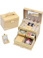 Special Collection Leatherette Jewellery Box (Beige)