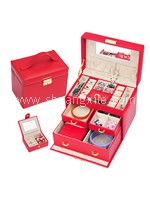 Special Collection Leatherette Jewellery Box (Red)