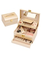 Special Collection Pearly Beige Leatherette Jewellery Box
