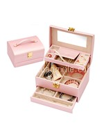Special Collection Pearly Pink Leatherette Jewellery Box