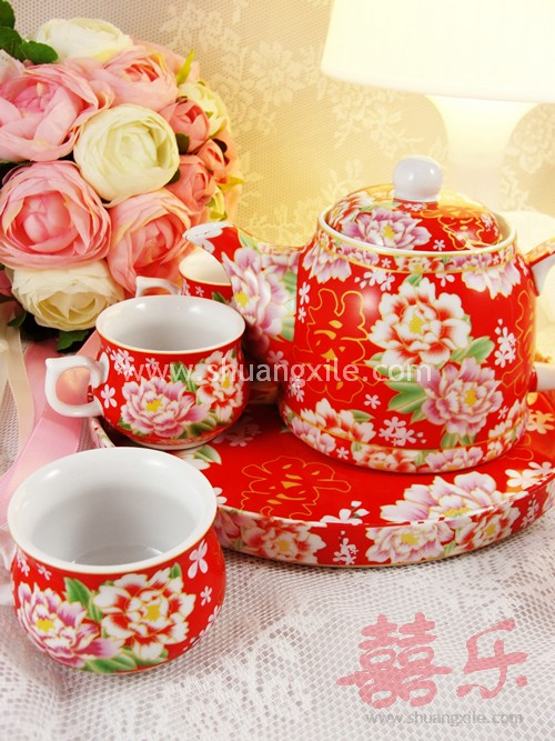 Chinese Wedding Customs Dowry Teaset