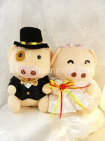 Lovely Piggy Wedding Couple