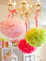 Paper Pom Pom Decor (7 Colors available)