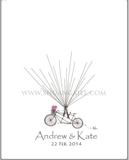 product thumbprint alternative guestbook tandem bike