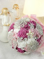 True Love Pink Jewellery Fabric Bouquet