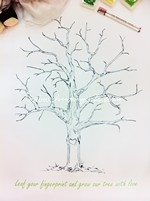 Vintage - Love Tree Thumbprint Guestbook~New!