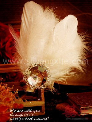 Classic Feather Corsages
