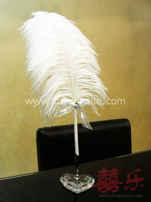 genuine feather signature pen medium wedding pen