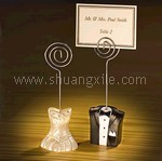 Brides & Groom Place Card Holder