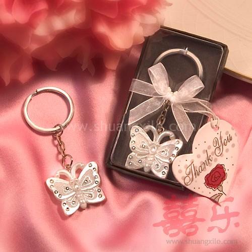 Butterfly Keychain Wedding Favors Gt Keychain Key