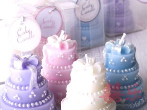 Pearl Wedding Cake Candle