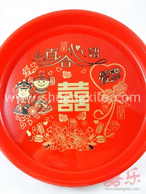 Exquisite Happy Couple Wedding Tray